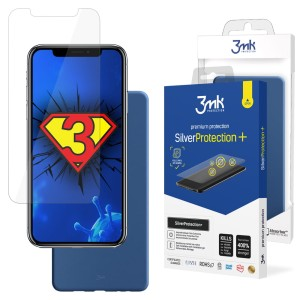 ZESTAW do iPhone X / XS, folia 3mk SilverProtection+ i etui 3mk Matt Case Blueberry