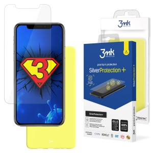 ZESTAW do iPhone X / XS, folia 3mk SilverProtection+ i etui 3mk Matt Case Lime