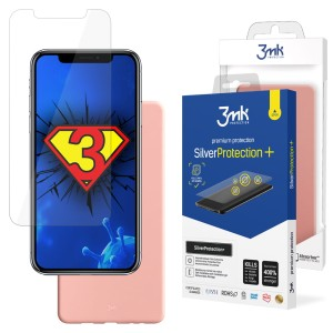 ZESTAW do iPhone X / XS, folia 3mk SilverProtection+ i etui 3mk Matt Case Lychee